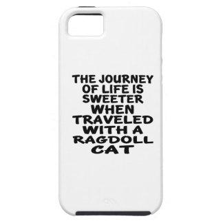 Capa Para iPhone 5 Viajado com gato de Ragdoll