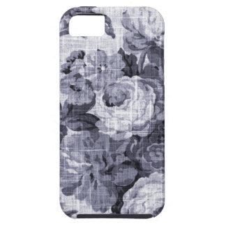 Capa Para iPhone 5 Vintage roxo azul Toile floral No.4 do Mulberry