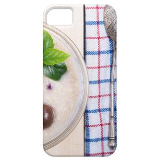 Capa Para iPhone 5 Vista superior de um prato saudável da farinha de