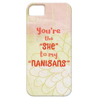 """Capa Para iPhone 5 Você é """"ela"""" a meu """"Nanigans"""""""