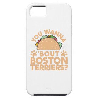 Capa Para iPhone 5 Você quer aos terrier de Boston do ataque do Taco?