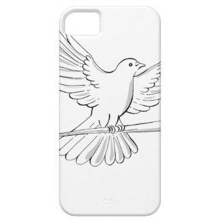 Capa Para iPhone 5 Vôo do pombo ou da pomba com desenho do bastão