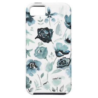 Capa Para iPhone 5 Watercolour floral no azul
