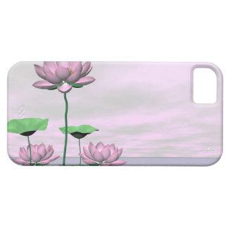 Capa Para iPhone 5 Waterlilies e flores de lótus cor-de-rosa - 3D