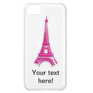 Capa Para iPhone 5C 3d torre Eiffel, clipart de France