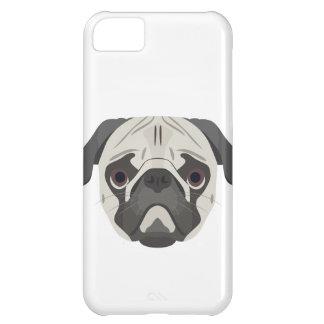 Capa Para iPhone 5C A ilustração persegue o Pug da cara