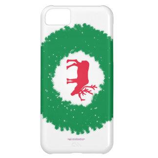 Capa Para iPhone 5C Alces para alces felizes do feriado do Natal  