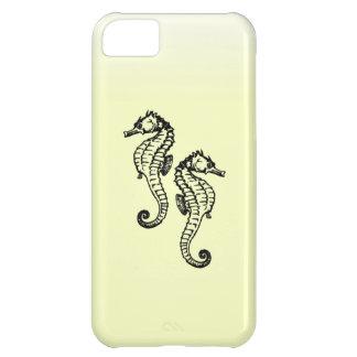 Capa Para iPhone 5C Amarelo dos cavalos marinhos