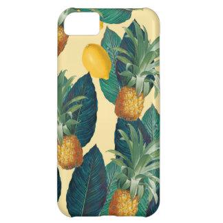Capa Para iPhone 5C amarelo dos limões do abacaxi