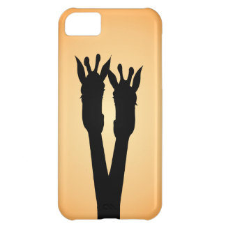 Capa Para iPhone 5C Amor do girafa