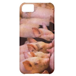 Capa Para iPhone 5C Animal - porco - comida do conforto