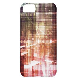 Capa Para iPhone 5C Aparência de Digitas com arte de transferência da