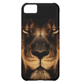 Capa Para iPhone 5C Arte africana da cara do leão