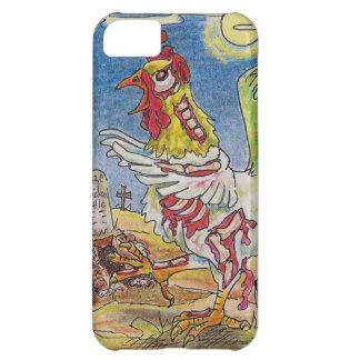 Capa Para iPhone 5C Arte do Dia das Bruxas da galinha do galo do zombi