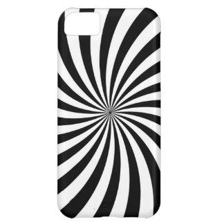 Capa Para iPhone 5C Arte Op preto e branco