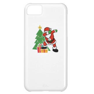 Capa Para iPhone 5C Árvore de Natal da solha de Papai Noel