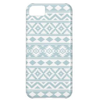 Capa Para iPhone 5C Azul asteca & branco do ovo do pato de Ptn IIIb da