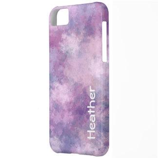 Capa Para iPhone 5C Azul, Lilac e rosa feitos sob encomenda do
