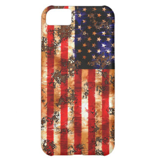 Capa Para iPhone 5C Bandeira americana oxidada resistida