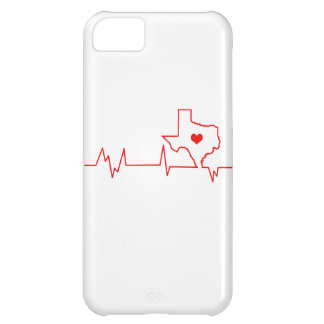 Capa Para iPhone 5C Batimento cardíaco de Texas