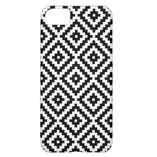 Capa Para iPhone 5C Bloco asteca Ptn do símbolo preto & branco mim