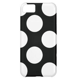 Capa Para iPhone 5C Bolinhas (pretas & branco) algum tamanho