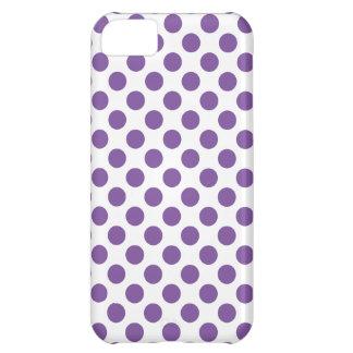 Capa Para iPhone 5C Bolinhas roxas