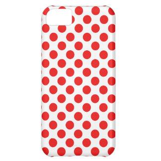 Capa Para iPhone 5C Bolinhas vermelhas