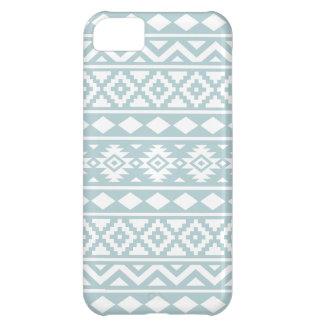 Capa Para iPhone 5C Branco asteca de Ptn III da essência no azul do