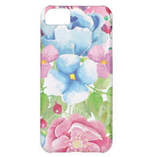 Capa Para iPhone 5C Buquê floral da aguarela bonito