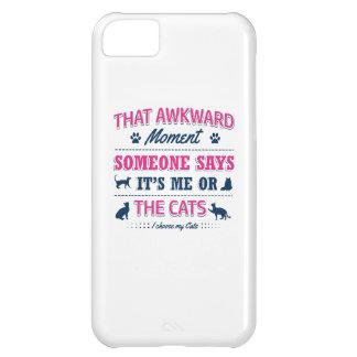Capa Para iPhone 5C Camiseta do amante do gato