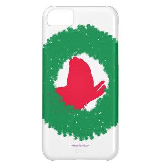Capa Para iPhone 5C Cartão e mais de Natal da grinalda & do lama do