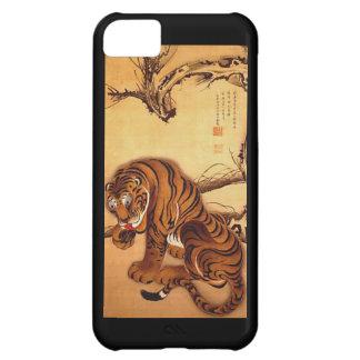Capa Para iPhone 5C Caso japonês do iPhone 5C do tigre da arte