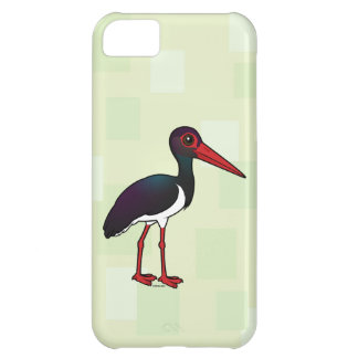 Capa Para iPhone 5C Cegonha preta de Birdorable
