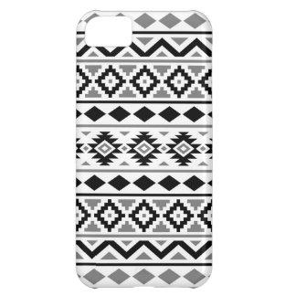 Capa Para iPhone 5C Cinzas brancas pretas do teste padrão III asteca