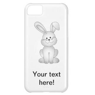 Capa Para iPhone 5C Clipart branco do coelho