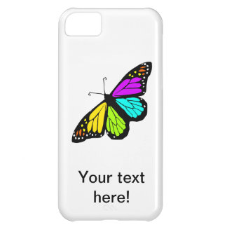 Capa Para iPhone 5C Clipart colorido da borboleta