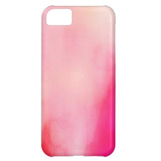 Capa Para iPhone 5C Colorido alaranjado coral do rosa abstrato da