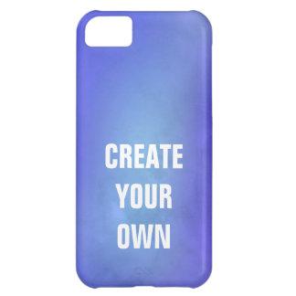 Capa Para iPhone 5C Criar sua própria pintura azul da aguarela