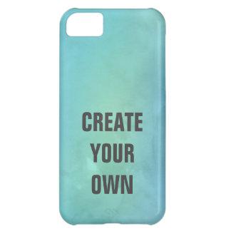 Capa Para iPhone 5C Criar sua própria pintura da aguarela de turquesa