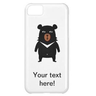 Capa Para iPhone 5C Desenhos animados do urso preto