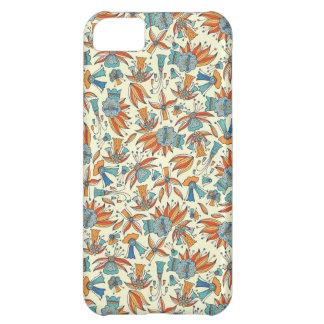 Capa Para iPhone 5C Design floral abstrato do teste padrão