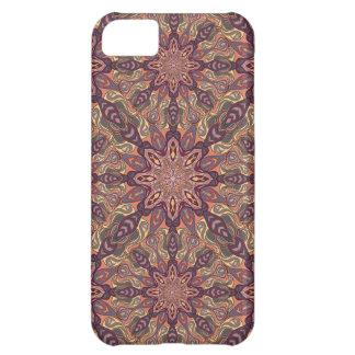 Capa Para iPhone 5C Design floral do teste padrão do abstrato da