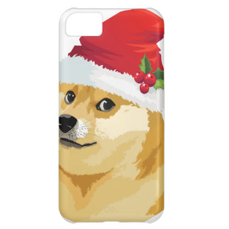 Capa Para iPhone 5C Doge do Natal - doge do papai noel - cão do Natal