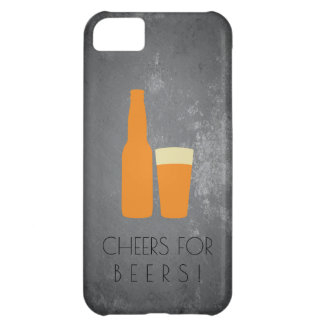 Capa Para iPhone 5C Elogios para cervejas/Grunge da ardósia