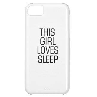 Capa Para iPhone 5C Esta menina ama o sono