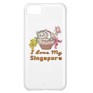 Capa Para iPhone 5C Eu amo meu Singapura
