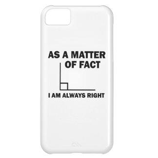 Capa Para iPhone 5C Eu sou sempre direito