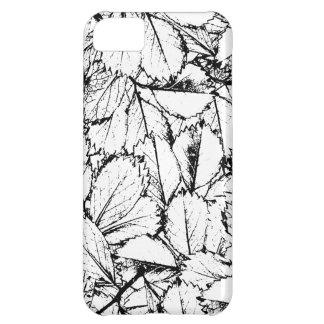 Capa Para iPhone 5C Folhas do branco