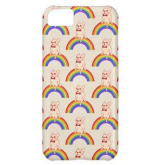 Capa Para iPhone 5C Frenchie comemora o mês do orgulho no arco-íris de
